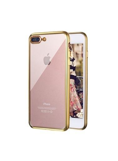 Microsonic iPhone 8 Plus Kılıf Flexi Delux  Altın